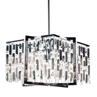 Faunia 4-Light Steel/Crystal Chandelier Size: 11 H x 16 W x 16 D