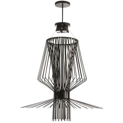 Lorelei 4-Light Pendant Finish: Black