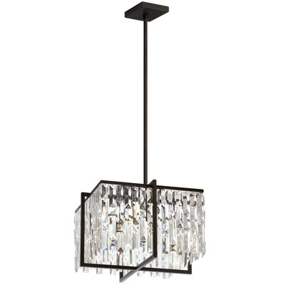 Faunia 4-Light Crystal Chandelier Size: 11 H x 16 W x 16 D