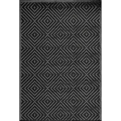 Hadleigh Charcoal Area Rug Rug Size: 5' x 7'6