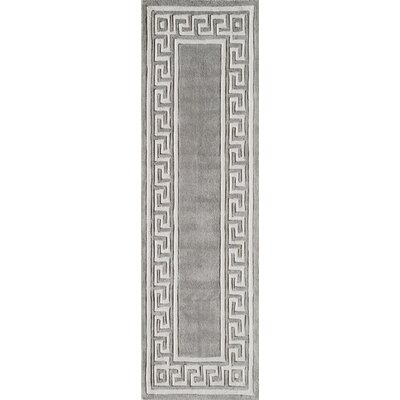 Finley Hand-Tufted�Gray Area Rug Rug Size: Runner 2'3