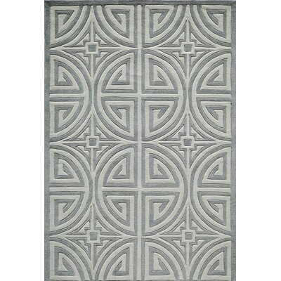 Alberto Hand-Tufted Gray Area Rug Rug Size: Rectangle 5 x 76