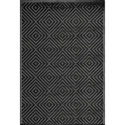 Curtice�Charcoal Area Rug Rug Size: Rectangle 33 x 53