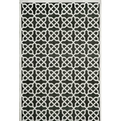 Hadleigh�Black Area Rug Rug Size: Rectangle 5' x 7'6