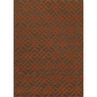 Grant Hand-Hooked Pumpkin Area Rug Rug Size: Rectangle 5 x 7