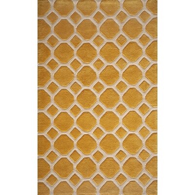 Chance Hand-Tufted Gold Area Rug Rug Size: Rectangle 2 x 3