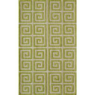 Finley Hand-Tufted Apple Green Area Rug Rug Size: Rectangle 2 x 3