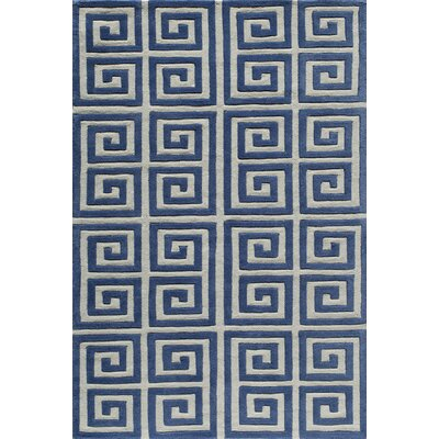 Finley Hand-Tufted Denim Area Rug Rug Size: 3'6