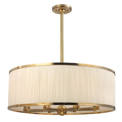 Devery 8-Light Drum Pendant Finish: Aged Brass