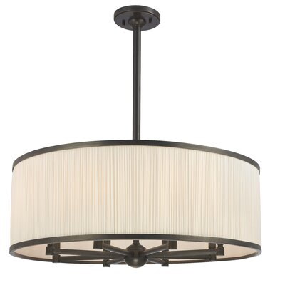 Devery 8-Light Drum Chandelier Finish: Old Bronze