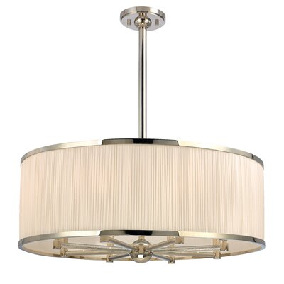 Devery 8-Light Drum Pendant Finish: Polished Nickel