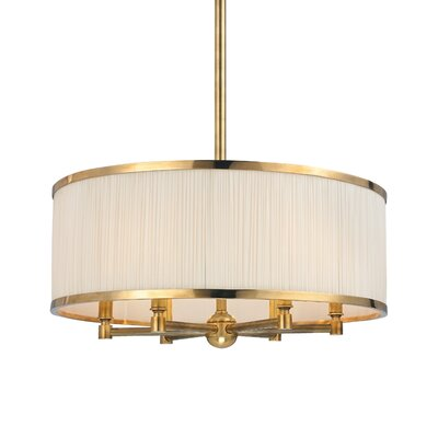 Devery 6-Light Drum Chandelier Finish: Aged Brass