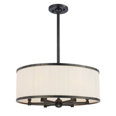 Devery 6-Light Drum Chandelier Finish: Old Bronze