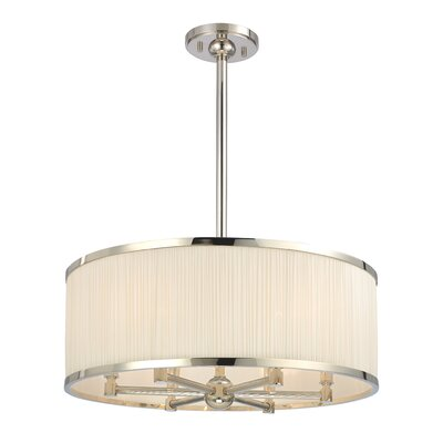 Devery 6-Light Drum Chandelier Finish: Polished Nickel