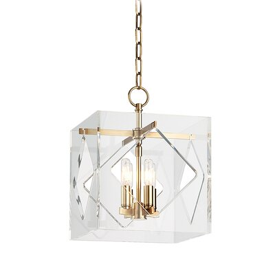 Rooker 4-Light Foyer Pendant Finish: Aged Brass