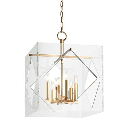 Rooker 8-Light Foyer Pendant Finish: Aged Brass, Size: 26.5 H x 20 W x 20 D