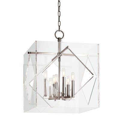 Rooker 8-Light Foyer Pendant Finish: Polished Nickel, Size: 26.5 H x 20 W x 20 D