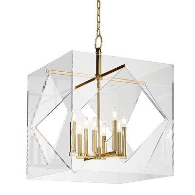 Rooker 8-Light Foyer Pendant Finish: Aged Brass, Size: 32 H x 24 W x 24 D