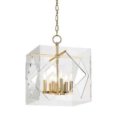 Frome 8-Light Foyer Pendant Finish: Aged Brass, Size: 26.5 H x 20 W x 20 D