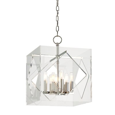 Rooker 8-Light Foyer Pendant Finish: Polished Nickel, Size: 21.5 H x 16 W x 16 D