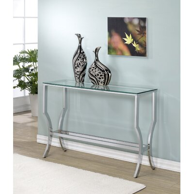 Alvar Contemporary Console Table Base Finish: Chrome