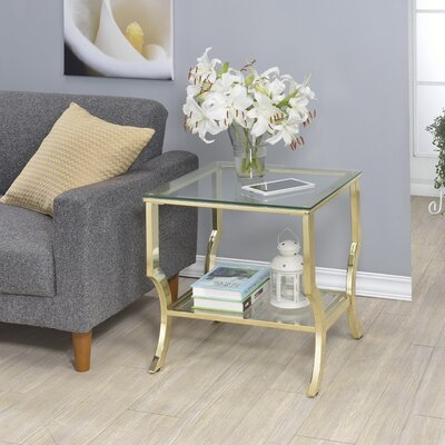 Derringer End Table Base Finish: Gold