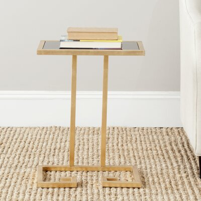Binney End Table Finish: Gold / Black