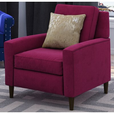 Rabin Cotton Arm Chair Fabric: Purple Wine
