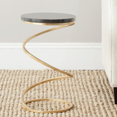 Bellingham End Table Finish: Gold / Black