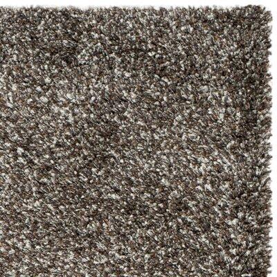 Martelange Shag Brown Solid Area Rug Rug Size: Round 4