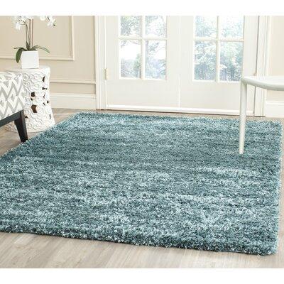 Martelange Shag Turquoise Solid Area Rug Rug Size: Runner 23 x 8