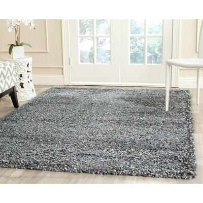 Martelange Shag Grey Solid Area Rug Rug Size: Rectangle 3 x 5