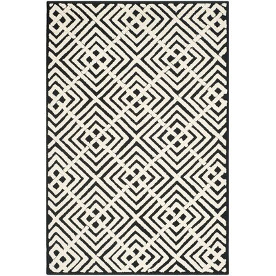 Nieve Black/White Geometric Area Rug Rug Size: Rectangle 39 x 59