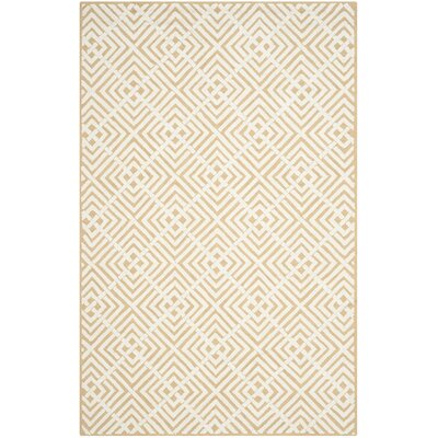 Fareham Beige/White Area Rug Rug Size: Rectangle 79 x 99