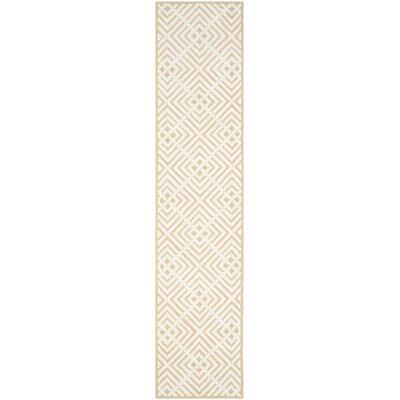 Fareham Beige/White Area Rug Rug Size: Runner 23 x 12