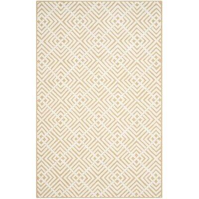 Fareham Beige/White Area Rug Rug Size: 79 x 99