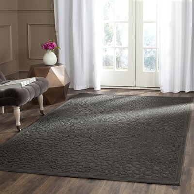 Gabbro Charcoal Area Rug Rug Size: Rectangle 53 x 76