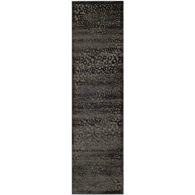 Gabbro Charcoal Area Rug Rug Size: Runner 23 x 8