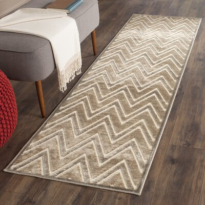 Gabbro Mouse / Cream Area Rug Rug Size: Runner 22 x 8