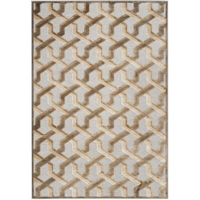 Maspeth Gray/Brown Area Rug Rug Size: Rectangle 76 x 106