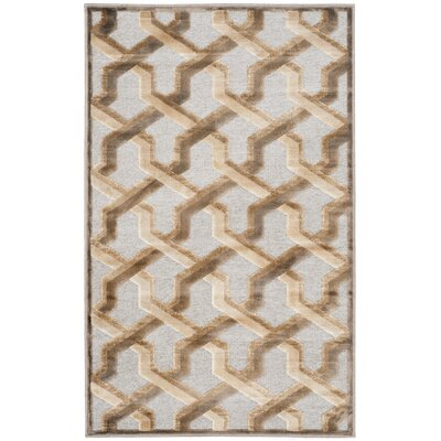 Maspeth Gray/Brown Area Rug Rug Size: Rectangle 53 x 76
