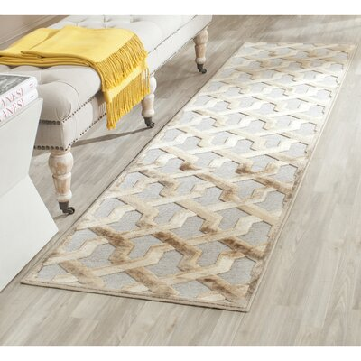 Maspeth Gray/Brown Area Rug Rug Size: Runner 22 x 8