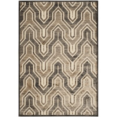 Gabbro Soft Anthracite/Cream Area Rug Rug Size: Rectangle 76 x 106