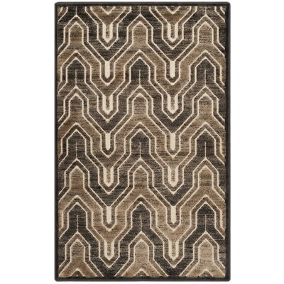 Gabbro Soft Anthracite / Cream Area Rug Rug Size: 53 x 76