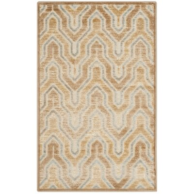 Gabbro Taupe/Beige Area Rug Rug Size: Rectangle 27 x 4