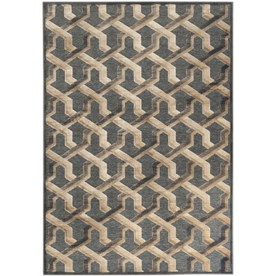 Gabbro Soft Anthracite Area Rug Rug Size: Rectangle 4' x 5'7