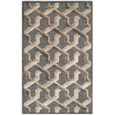 Gabbro Soft Anthracite Area Rug Rug Size: Rectangle 27 x 4