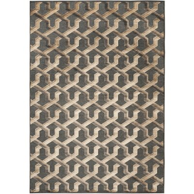 Gabbro Soft Anthracite Area Rug Rug Size: Rectangle 8 x 112