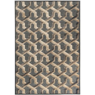Gabbro Soft Anthracite Area Rug Rug Size: 4 x 57