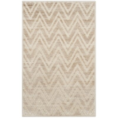 Gabbro Taupe/Beige Area Rug Rug Size: Rectangle 4' x 5'7